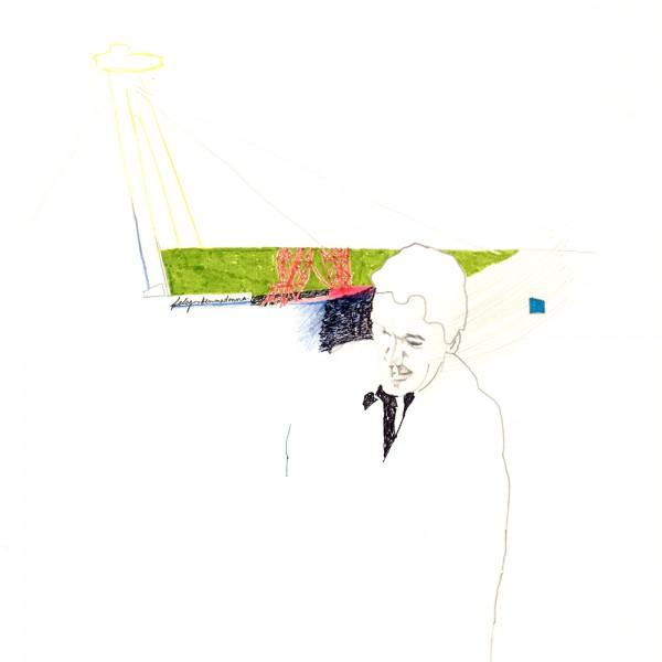 felsgrottenmadonna, 30 x 30 cm, 2012, mixed media