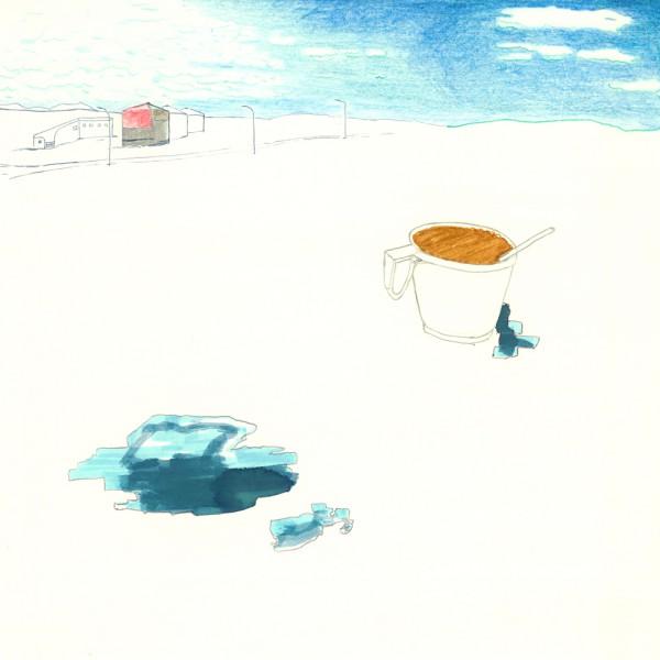 kalter kaffee, 30 x 30 cm, 2012, mixed media